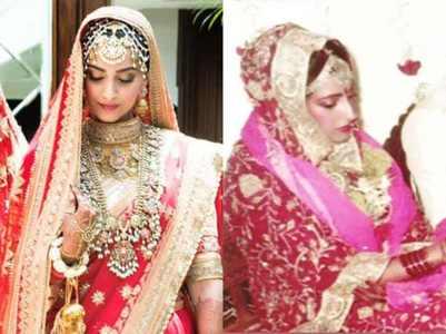 Pic: Sunita-Sonam's resembling bridal wear