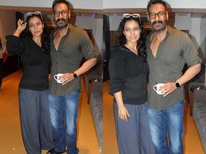 Pics: Ajay Devgn-Kajol snapped at an event