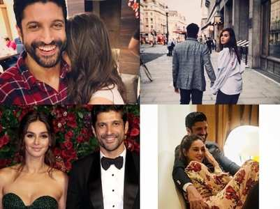 Candid pictures of Farhan and Shibani