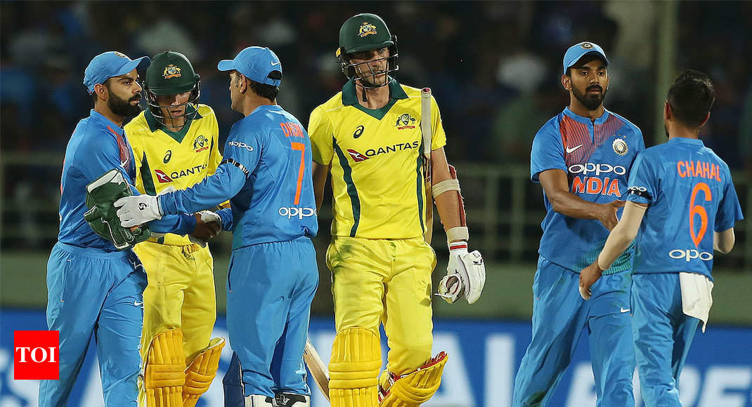 India Vs Australia T20 >> Ind Vs Aus 1st T20 Highlights Bumrah S Heroics In Vain As
