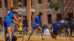 Students exhibit their 'josh' at JECRC University's national sports fest 'JU VERVE' 2019