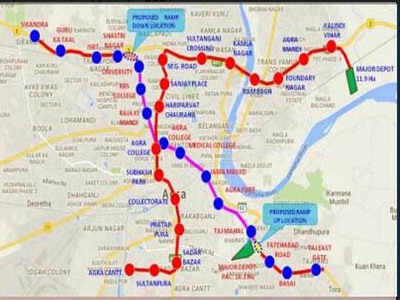 With 27 stations, 2 corridors, Agra to have running Metro by ... Tourist Maps Of Agra India on agra new delhi india map, taj mahal india location on map, madrid tourist map, agra uttar pradesh india map,