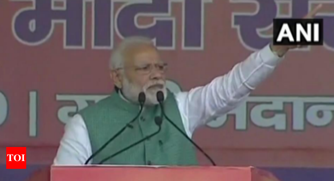 Modi strikes emotional chord with people of Bihar at Patna rally | India  News - Times of India