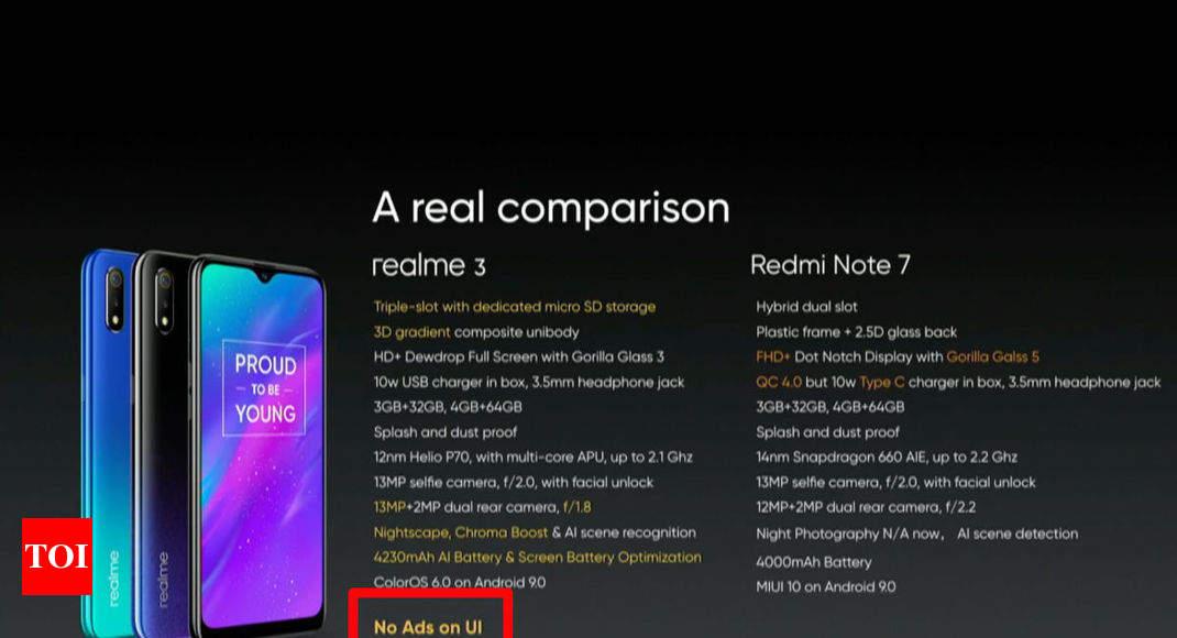 realme ceo troll xiaomi redmi note 7: Realme 3 launch: CEO Madhav