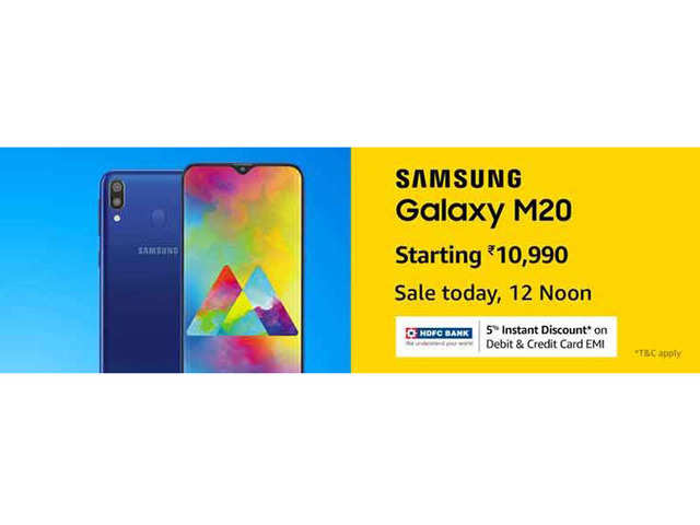 Samsung Galaxy M20 to be available in flash sale today at 12pm on Amazon India's website
