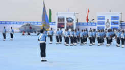 Indian Air Force (IAF) cadets march and Band performance