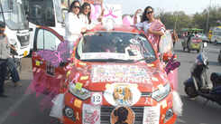 Driving for a cause: Women car rally in Jaipur spreads awareness about cancer, blood donation