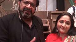 Kulfi Kumar Bajewala actor Mehul Buch with wife Alpana in Ahmedabad