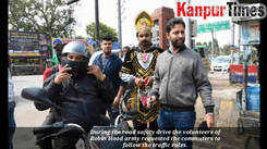 Hood army organises a road safety drive in Kanpur