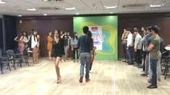 Livon Times Fresh Face finalists rehearse with Alesia Raut for finale