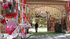 Ambani residence Antilia is all decked up with flowers to welcome the new bride and groom