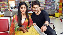 Paras Arora and Shivani Badoni go chikan shopping in Lucknow