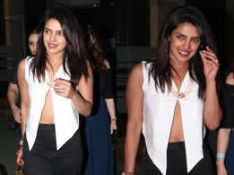 Priyanka Chopra keeps it hot in a black and white look!