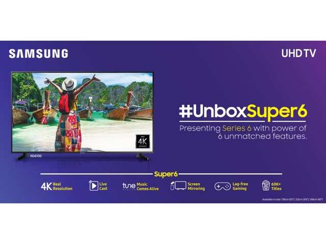 Samsung launches 'Super 6' UHD TV line-up, price starts Rs 41,990