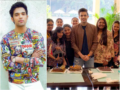 Parth gets surprise b'day party from fans