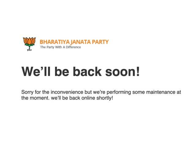 10 days and counting: BJP's official website is still down after being 'hacked'