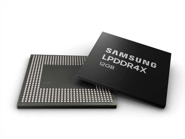 Samsung launches 12GB LPDDR4X mobile DRAM