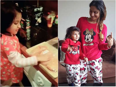 Dimpy's daughter is a chef in the making