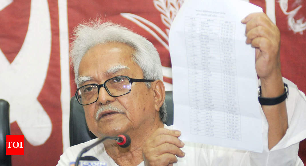 West Bengal: Left Front releases list of 25 candidates for Lok Sabha polls, leaves 17 seats for Congress - Times of India