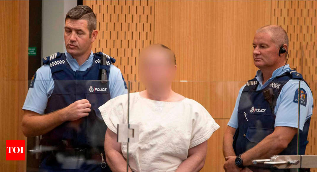 Defiant New Zealand mosque attack suspect charged with murder - Times of India