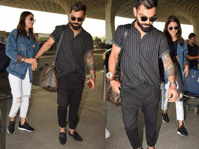 Watch: Anushka-Virat snapped at the airport