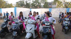 Biker girls show their traditional swag in the city