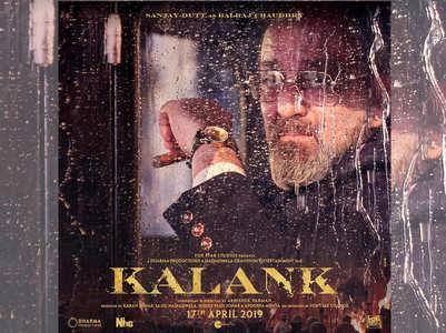 Kalank poster: Sanjay Dutt looks impressive