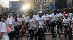 Mumbaikars take part in 'Ride to Mpower' movement