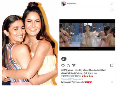 Katrina reacts to Alia's 'Kalank' song