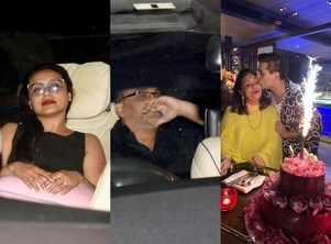 Rani-Aditya at Hiroo Johar's birthday