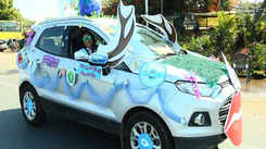 This Women's Day car rally in Jaipur highlighted the need to conserve water
