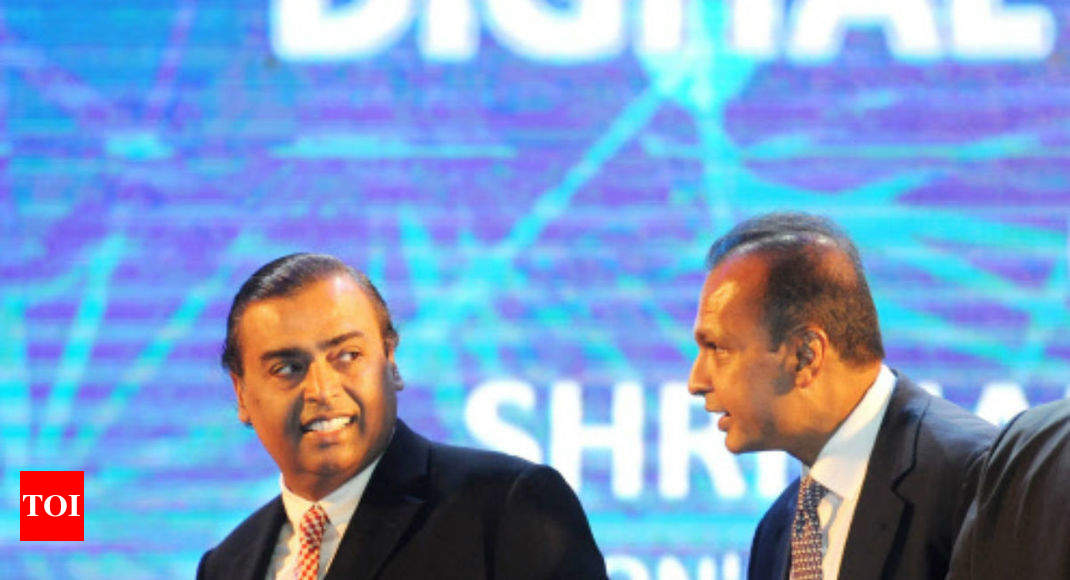 Mukesh Ambani's help saves day for Anil as RCom makes Rs 550 crore payment to Ericsson - Times of India