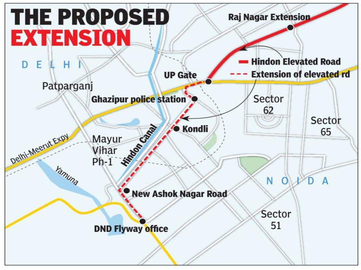 8km Road By Hindon Canal May Link Up Gate Flyover With Dnd Noida News Times Of India