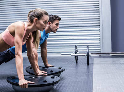 This 3-move bosu ball workout is SUPER intense