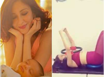 New mommy Saumya Tandon hits the gym