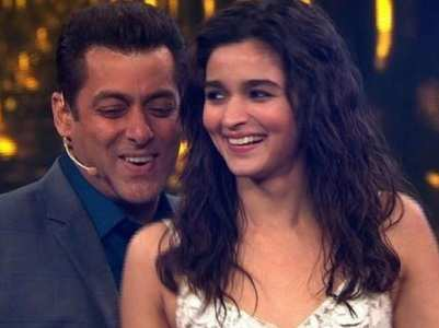 Salman's photo with a baby Alia is trending