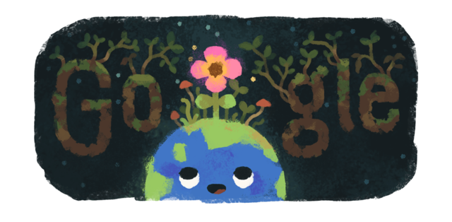 Google marks the beginning of spring with a doodle