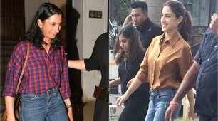 Sara Ali Khan and Deepika Padukone's sister, Anisha Padukone, set new trends with tucked-in casual shirts