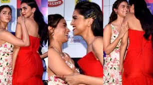 Alia Bhatt and Deepika Padukone exchange laughter, smiles and hugs