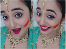 Video: Bhojpuri star Rani Chatterjee wishes her fans a happy Holi