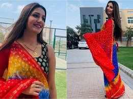 Sapna Choudhary spreads a desi vibe, wears saree