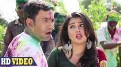 Holi Special Bhojpuri Gana: Dinesh Lal Yadav and Aamrapali Dubey's Bhojpuri Holi song 'Holi Mein GST Jor Ke'