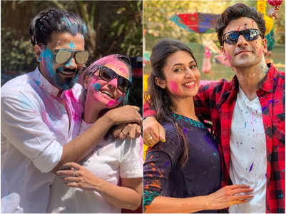 Holi 2019: Hina spends Holi in Rocky's arms