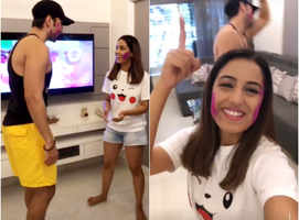 Srishty Rode celebrates Holi with Rohit