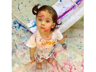 Inaaya's pic post Holi will melt your hearts