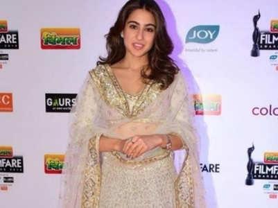 Sara Ali Khan sizzles in an ivory gold lehenga