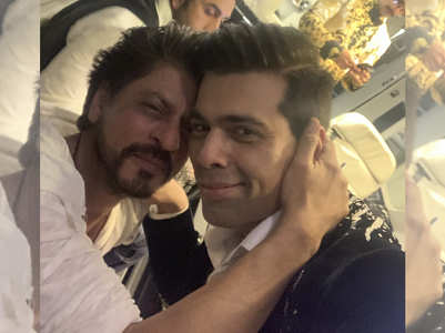 SRK and KJo pose for an endearing selfie