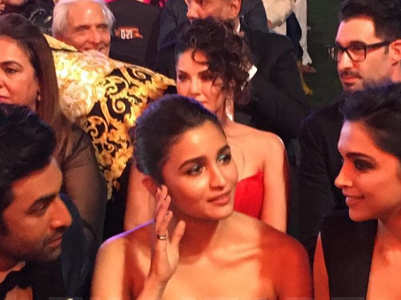 Alia, Ranbir and Deepika caught in one frame