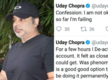 """Confession: I am not ok!"" Actor Uday Chopra tweets and deletes message about his failing battle with depression!"