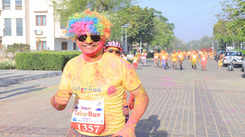 Large turnout at the third-edition of Jaipur Color Run